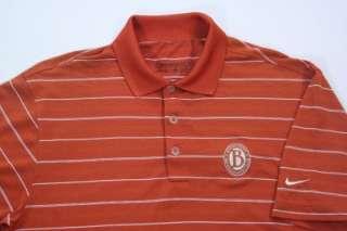 FIT DRY Mens Orange Striped Polo Sports Shirt AWESOME Sz S