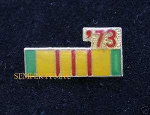 73 VIETNAM SERVICE RIBBON PIN US NAVY ARMY MARINES USAF