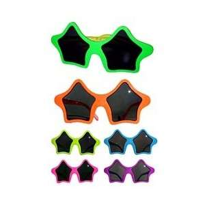 Glitter Flame Star Sunglasseswith Uv Protection Lens. Assorted Colors