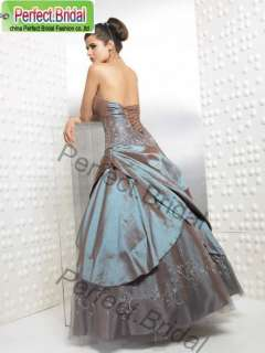 Wedding Dress Bridal Gown Prom Graduation Party Ball Evening Taffeta