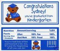 Kindergarten Graduation party favors personalized