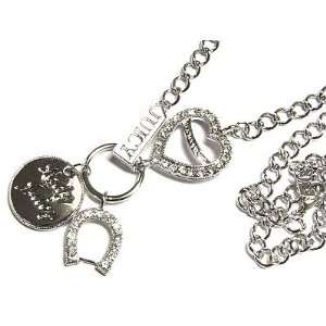 Juicy Inspired White Gold Plating Heart & Charms Couture