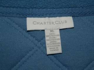 Charter Club Womens Quilted Long Sleeve Fleece Jacket / Coat   Size X