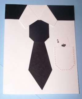 Stampin Up handmade greeting card men shirt tie PY LOT