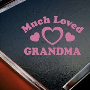 Much Loved Grandma Pink Decal Car Truck Window Pink