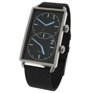 Grand Tour Dual Time Watch 47mm Black Dial with Black
