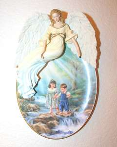 LOVING GUARDIANS Bradford Exchange ANGEL Plate in Box