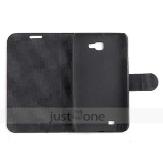 Smart folio Stand Leather Case Cover Guard f Samsung Galaxy Note N7000