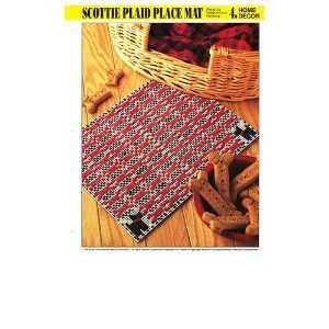 Scottie Plaid Place Mat   Home Decor   One Plastic Canvas Pattern
