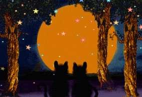 Folk Art Halloween WITCHs Haunted Tree House Cauldron Cats PRINT HA31