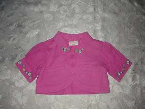 Girls HANNA ANDERSSON Pink Cropped Jacket 100 4 5