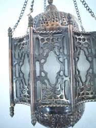 NEW Arabian/Islamic Curved Frosted Glass Lamp/Lantern