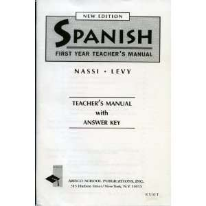 with Answers Key (New Edition) (9780877201434) Nassi, Levy Books