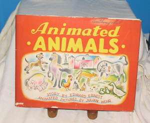 ANIMATED ANIMALS MOVING PICTURE BOOK 1943 Edward Ernest