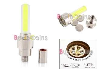 Motor Bike Car Tyre Tire Valve Wheel LED Light Yellow