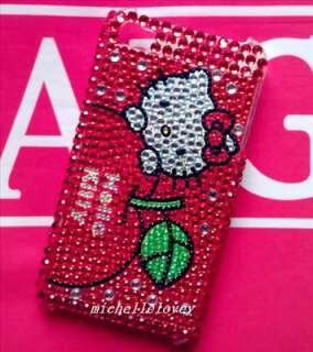 Hello Kitty Rhinestone Bling Case for iPhone 4 4g MF37