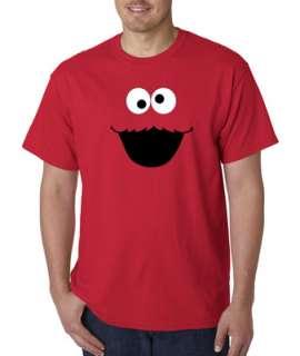 Cookie Monster Face Cartoon 100% Cotton Tee Shirt