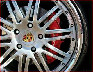 Porsche Gold Wheel Center Caps Decal Set Boxster Cayman |