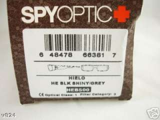 SPY Sunglass HIELO Black Gray HEBS00 670375062129