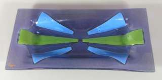 Higgins Purple, Blue & Green Art Glass Rectangular Tray