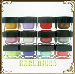 12 Solid Color Opaque Mix UV Builder Gel Nail Art Set J
