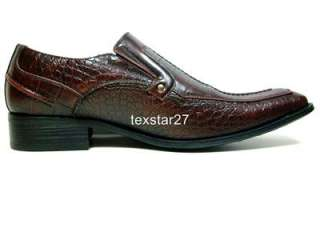 ALDO Brown Faux Crocodile Design Loafer Dress Casual Shoes Styled In
