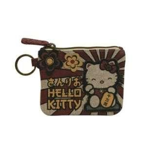 Hello Kitty Sanrio Lucky Cat Coin Bag Purse Office