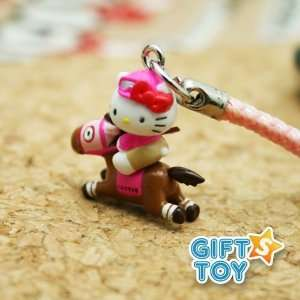 Hello Kitty Horse Racing Cell Phone Charm