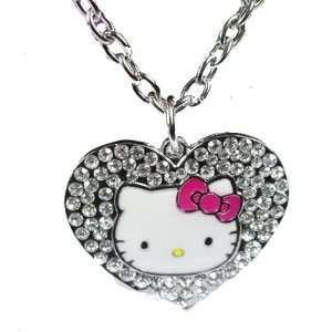 with Dark Pink Enamel Bow & Kitty Face in Hello Kitty By Jersey Bling