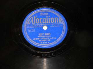 78 RPM Johnny Hodges JEEPS BLUES Vocalion VG+