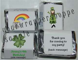 ST. PATRICKS DAY Candy Wrappers Kiss Labels FAVORS