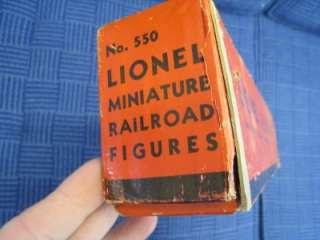 VINTAGE PRE WAR LIONEL TRAIN SET NO. 550 MINIATURE RAILROAD FIGURES