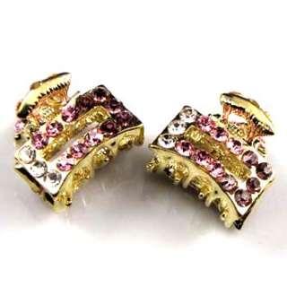 SHIPPING 2 Austrian rhinestone crystal fashion hair claw clip