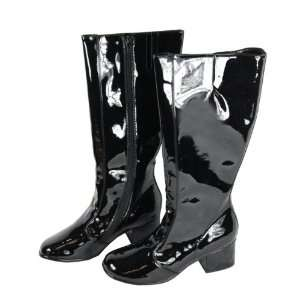 Womens Black Teri Knee High Leather Boots   Size 11