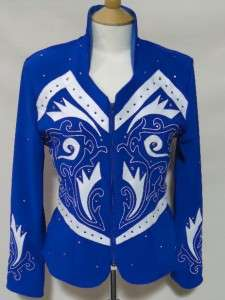 1849 Ranchwear #7103 Royal Blue & White Queen Horse Show Jacket Hobby