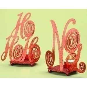 Reflections Collection Red HoHoHo & Noel Christmas Votive Holders