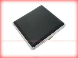 Black Leather Cigarette Case Holder Holds 20 pcs