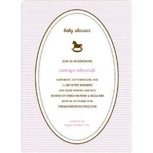 Classic Rocking Horse Baby Shower Invitation: Health