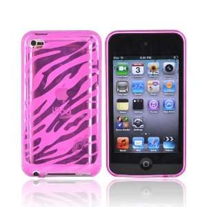 HOT PINK ZEBRA for iPod Touch 4 Crystal Silicone Case