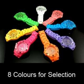 Men Lady Women Plastic Summer Wrist Watch Multi Colour