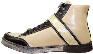 NEW~MAURI~BROWN OSTRICH/NAPPA LEATHER SNEAKERS~SZ 13