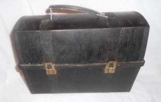 VINTAGE ALADDIN INDUSTRIES BLACK WORKMAN PLASTIC LUNCH BOX