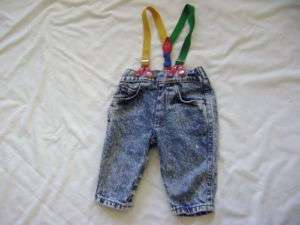 BLUE DENIM JEANS & SUSPENDERS~LEVIS~Boys 9 Months~Infa