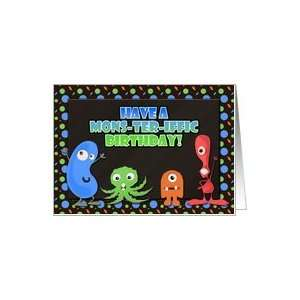 Childrens Kids Birthday Card, Mons ter iffic Card Toys & Games