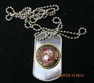 2009 US MARINE CORPS DOG TAG HAT PIN CHAIN MARINES EGA