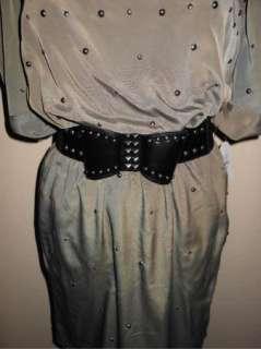 NWT Jessica Simpson Bow Belt Studded Dress 12 $148
