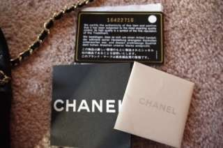 Chanel } Black Caviar Leather XS Mini Classic Flap BAG NEW 2012