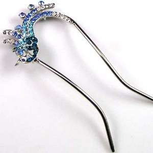 ADDL Item  1pc Austrian rhinestone crystal phoenix hair
