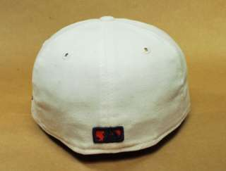 59FIFTY FITTED BASEBALL HAT ST LOUIS CARDINALS BIRD ALL WHITE CAP