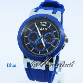 Colorful Sport Style Jelly Watches Womens Silicone Quartz Wrist Watch